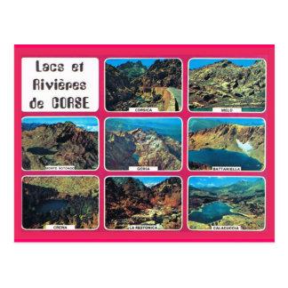 Vintages Frankreich Korsika, Seen und Flüsse Postkarte