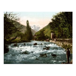 Vintages Frankreich, Pikeewasserfalangler, Luchon Postkarten