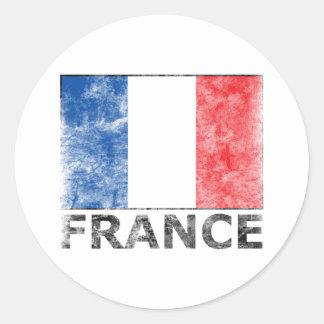 Vintages Frankreich Runder Aufkleber