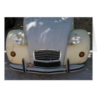 Vintages französisches Auto Grußkarte