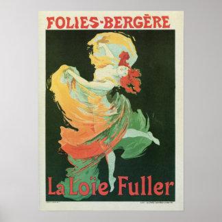Vintages französisches Kunst nouveau La Loïe Poster