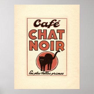"""Vintages französisches Plakat """"Café Chat noir """""""