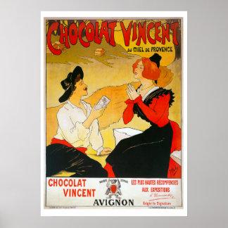 Vintages französisches Schokoladen-Plakat Poster