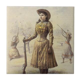 Vintages Fräulein Annie Oakley, Western-Cowgirl Keramikfliese
