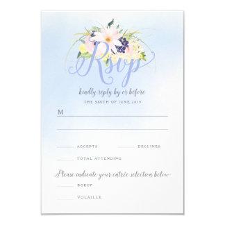 Vintages Frühlings-Hochzeit MIT BLUMENUAWG 8,9 X 12,7 Cm Einladungskarte