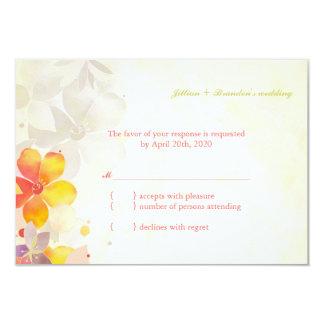 Vintages Gefühl-Garten-Hochzeit UAWG 8,9 X 12,7 Cm Einladungskarte