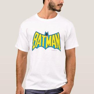 Vintages gelbes blaues Logo des Batman-| T-Shirt
