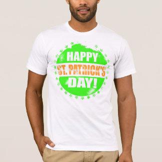 Vintages glückliches St. Patricks Day-Logo T-Shirt