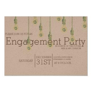 Vintages hängendes Verlobungs-Party der 12,7 X 17,8 Cm Einladungskarte