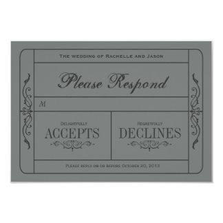 Vintages Hochzeits-Karte UAWG 8,9 X 12,7 Cm Einladungskarte