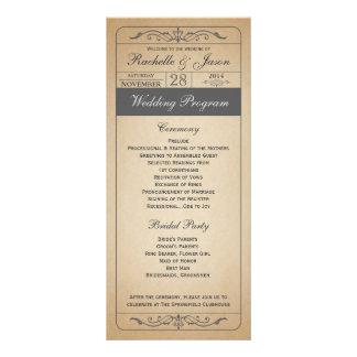 Vintages Hochzeits-Karten-Programm Kartendruck