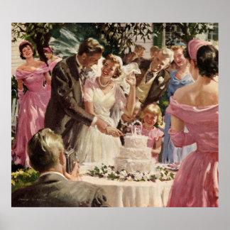 Vintages Hochzeits-Plakat Poster