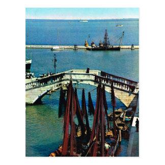 Vintages Italien, Fischerboote, Chioggia, Italien Postkarte