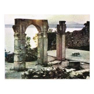 Vintages Italien,     Sirmione, Garda, römische Postkarte