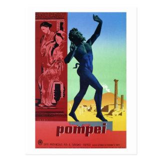 Vintages italienisches Reiseplakat Pompejis Postkarte
