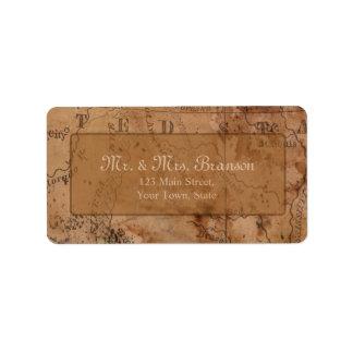 Vintages Karten-Hochzeit in Adress Aufkleber