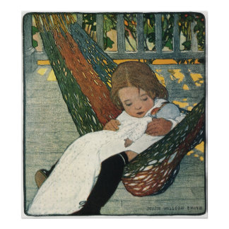 Vintages Kind mit einer Puppe durch Jessie Willcox Poster
