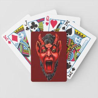 Vintages Knurren Krampus Pokerkarten