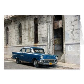 Vintages Kuba-Auto Karte