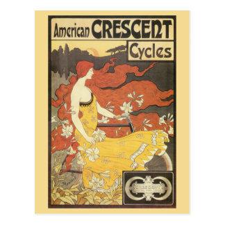 Vintages Kunst nouveau fährt Anzeige rad Postkarte