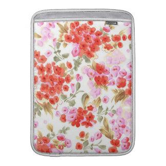 Vintages leichtes Blumen des entzückenden netten MacBook Sleeve