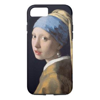 Vintages Mädchen mit einem Perlen-Ohrring iPhone 8/7 Hülle