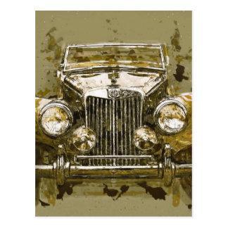 Vintages Magnesium-Sport-Auto Postkarte