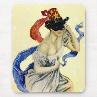 Vintages Maskerade-Party des Sylvesterabends Mousepads