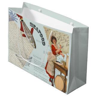 Vintages Meeresfrüchte-Kochen Große Geschenktüte