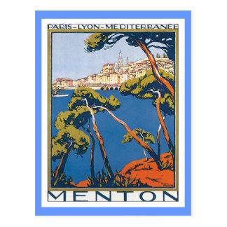 Vintages Menton Frankreich Postkarte