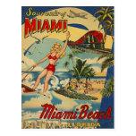 Vintages Miami Beach, Florida, USA - Postkarten