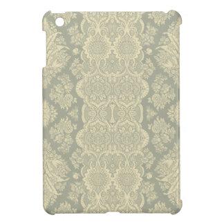 Vintages Muster in Gelbem und im Grau iPad Mini Hülle