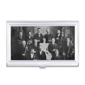 Vintages Orchester-Marinestadt Michigan Visitenkarten-Schatulle