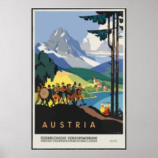 Vintages Österreich-Reise-Klassiker-Plakat Poster