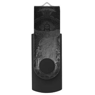 Vintages Parishauptmosaik heiliges Herz Jesus USB Stick
