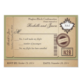 Vintages Pass-Karte UAWG 8,9 X 12,7 Cm Einladungskarte