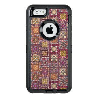Vintages Patchwork mit Blumenmandalaelementen OtterBox iPhone 6/6s Hülle