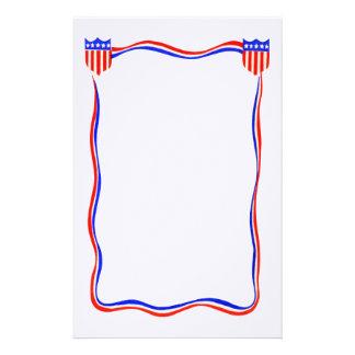 Vintages patriotisches rotes, weißes und blaues briefpapier