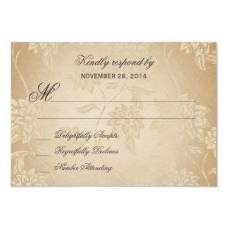 Vintages Pfau-Hochzeit UAWG 1,0 8,9 X 12,7 Cm Einladungskarte