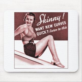 Vintages Pinup-Mädchen sind, die Sie, kurvt dünnes Mousepad