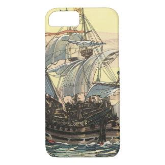 Vintages Piraten-Schiff, Galleon Segeln auf dem iPhone 8/7 Hülle