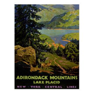Vintages Plakat Adirondack Gebirgslake placid Postkarte