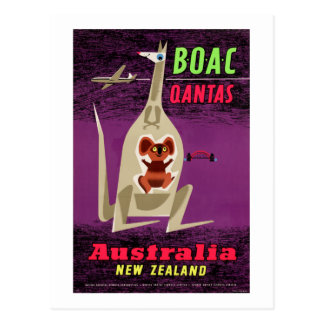 Vintages Plakat Australiens Neuseeland wieder Postkarte