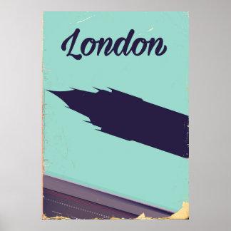 Vintages Plakat Big Ben London-Parlaments