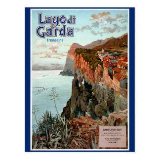 Vintages Plakat Lago di Garda Lake Garda Postkarte