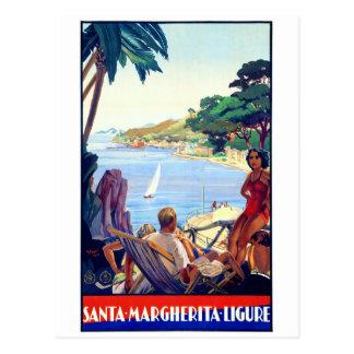 Vintages Plakat Sankt Margherita Ligure wieder Postkarte