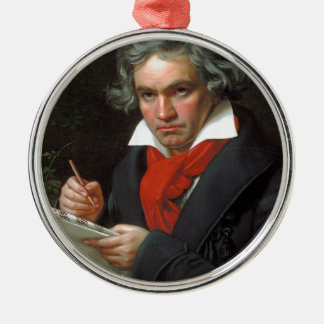 Vintages Porträt des Komponisten, Ludwig von Rundes Silberfarbenes Ornament