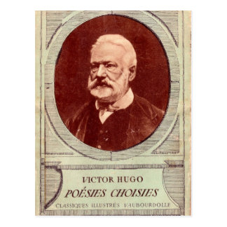 Vintages Porträt, Victor Hugo Postkarte