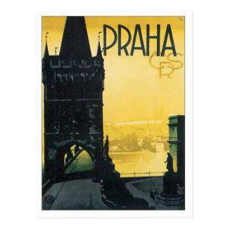 Vintages Prag Postkarte
