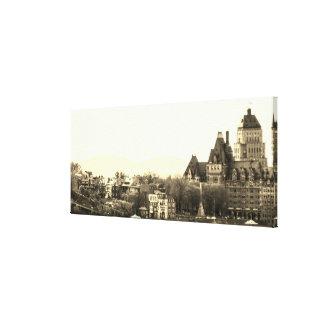 Vintages Québec-Stadt Leinwanddruck